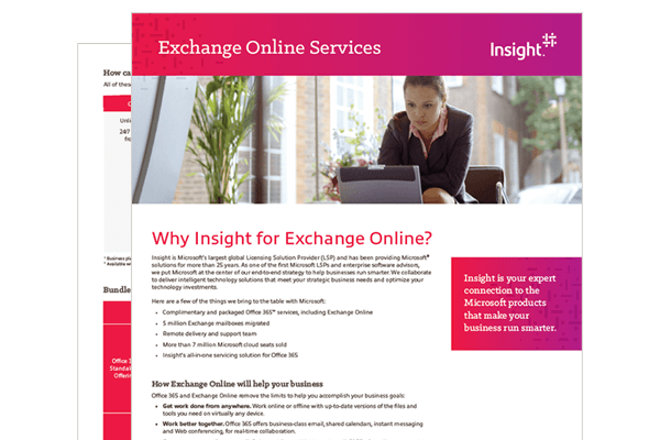 Exchange Online Services datasheet
