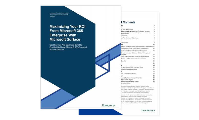 Maximizing Your ROI From Microsoft 365 Enterprise With Microsoft Surface