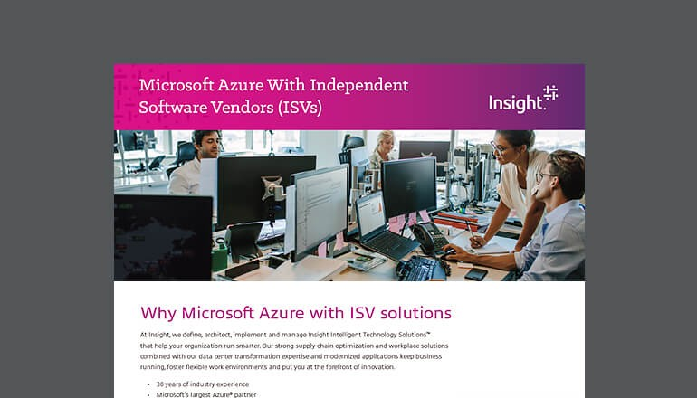 Microsoft Azure Integration With ISVs datasheet thumbnail