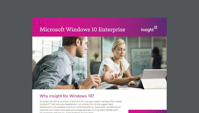 Why Insight for Windows 10? datasheet thumbnail